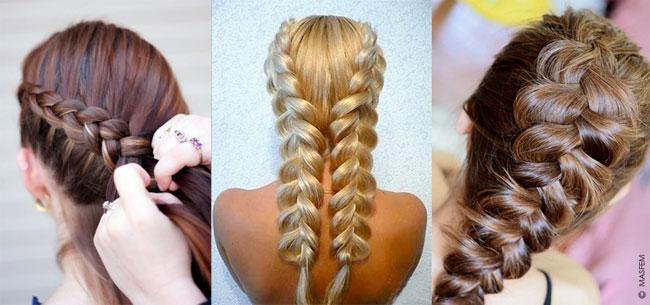 Голландская коса - схема | Прически| Ваши волосы