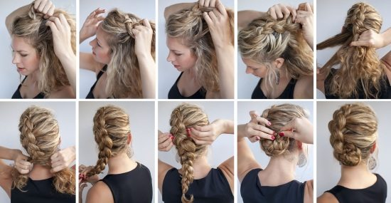 Причёски для длинных волос своими руками фото
