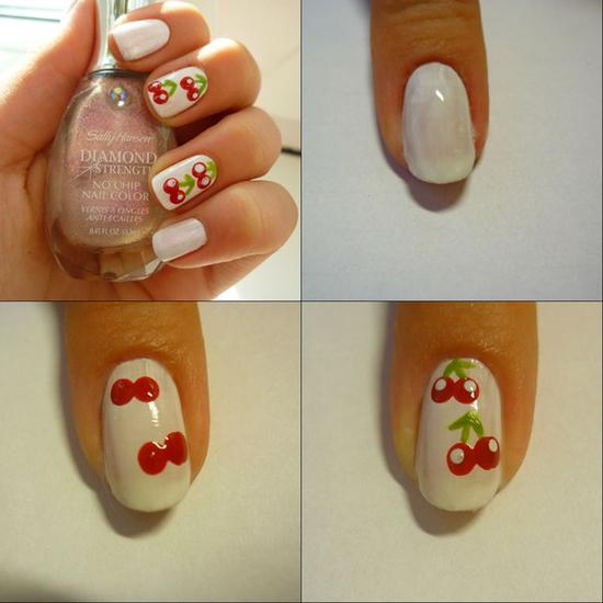 как нарисовать рисунок на ногтях: