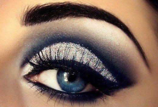 Вечерний макияж глаз банан