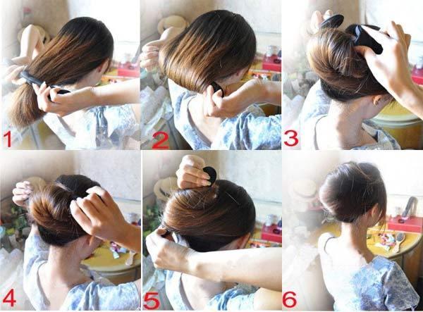 Прически с валиком для волос,