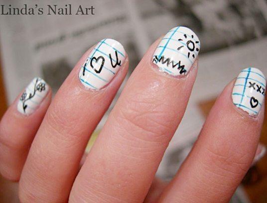 Дизайн ногтей для школы