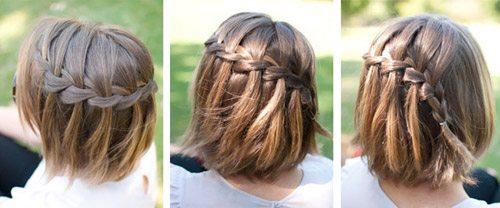 Причёски с косами на средние волосы в домашних условиях пошагово 28