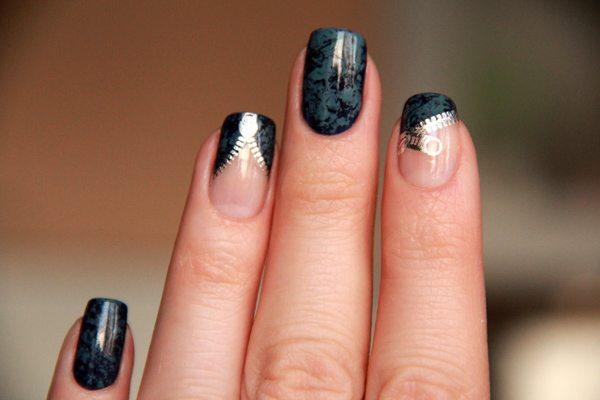 Дизайн ногтей замочки фото