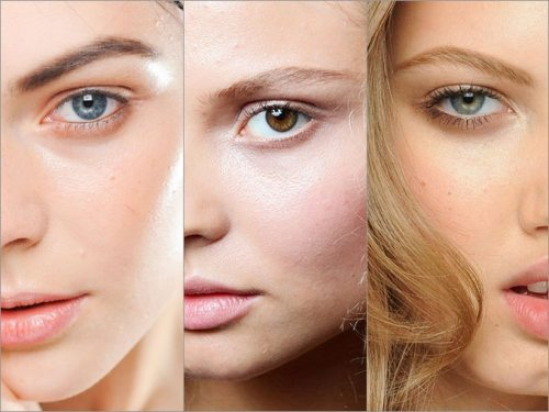под макияж с эффектом