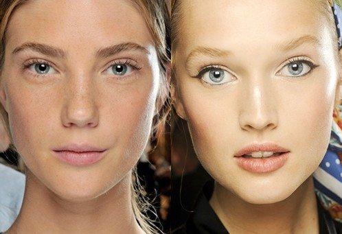 Как сделать незаметный макияж в школу видео