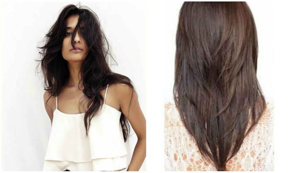 Стрижка перьями на длинные волосы