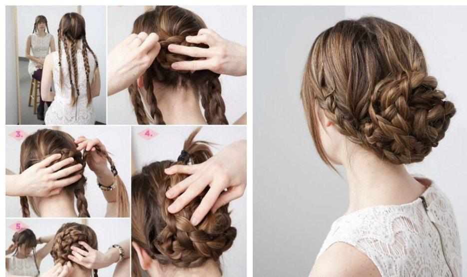 плетение простых кос