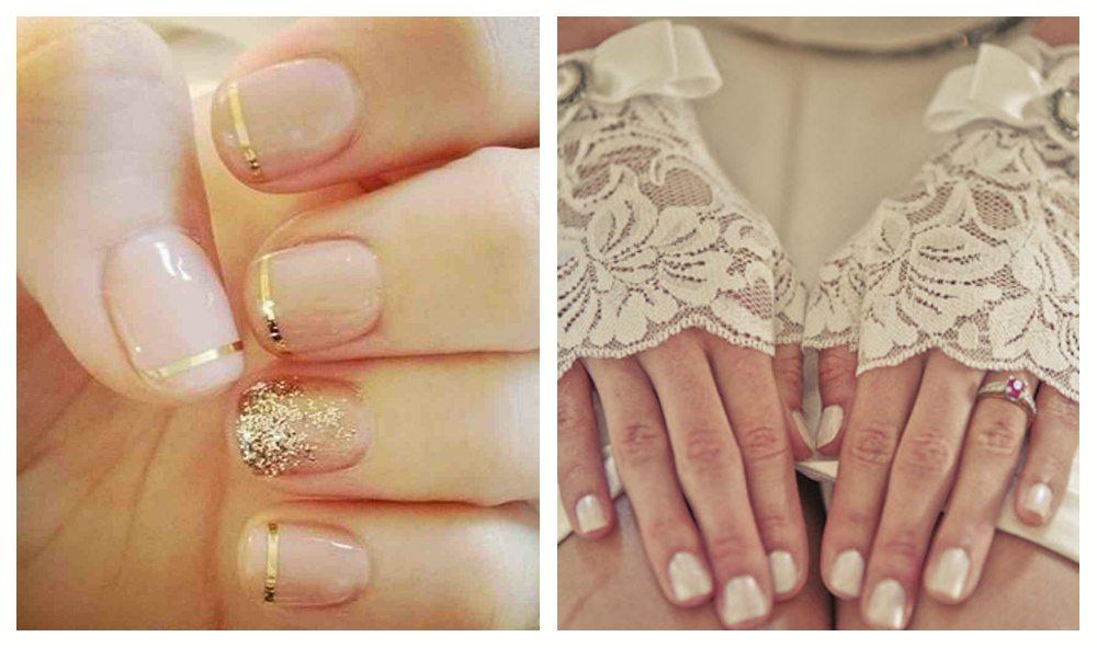 Свадебный шеллак на короткие ногти