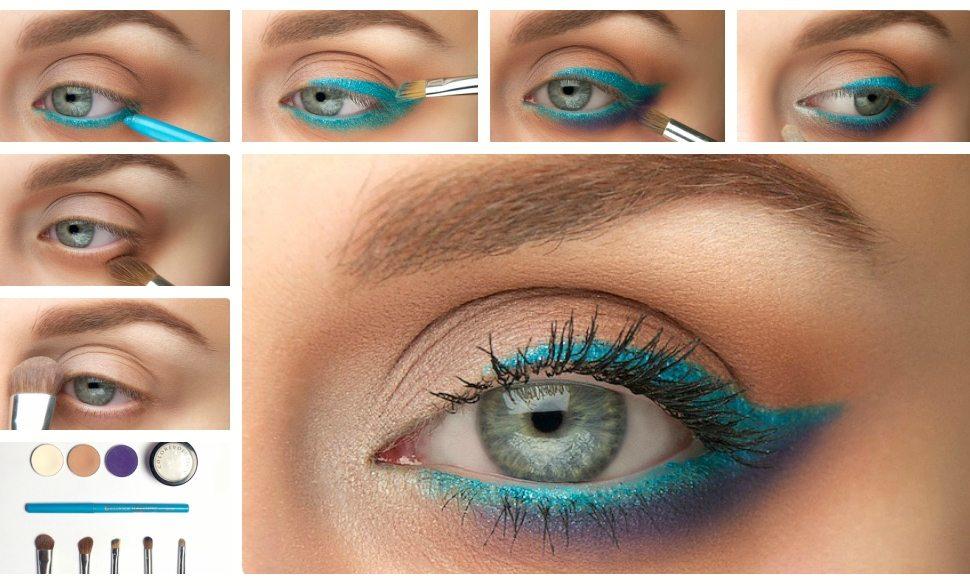 Вечерний макияж мастер класс для серых глаз и