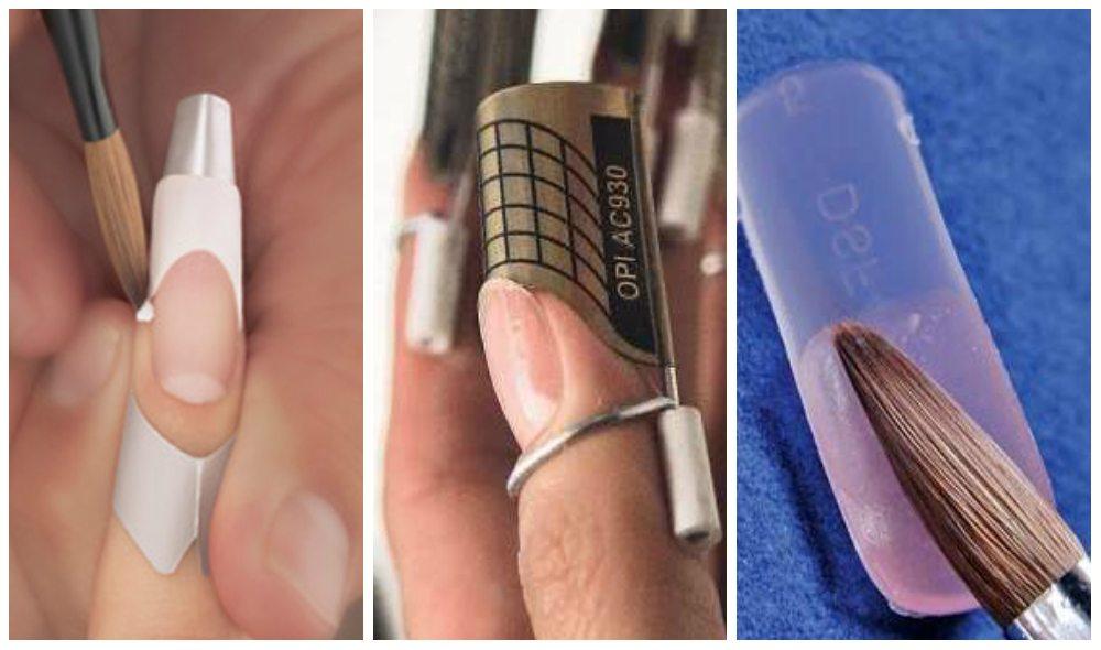 Как наращивать ногти гелем на формах