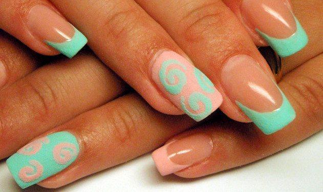 Дизайн ногтей манка