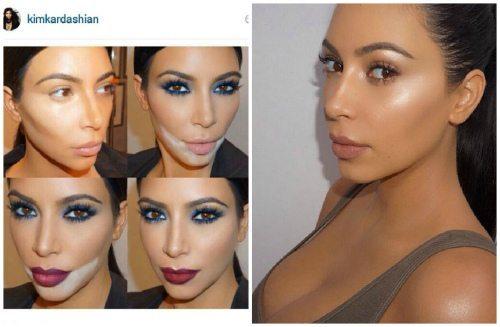 макияж от Ким Кардашьян