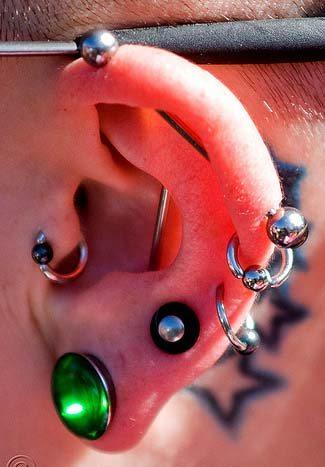 проколы уха