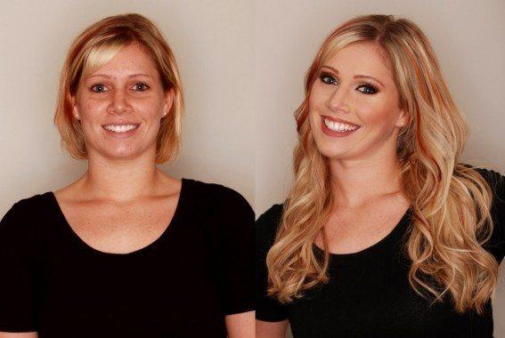 блондинка после процедуры