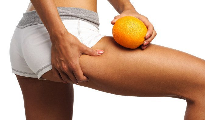 апельсиновая корка на ноге