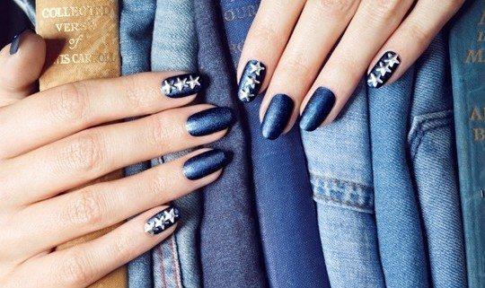 джинсовые ногти