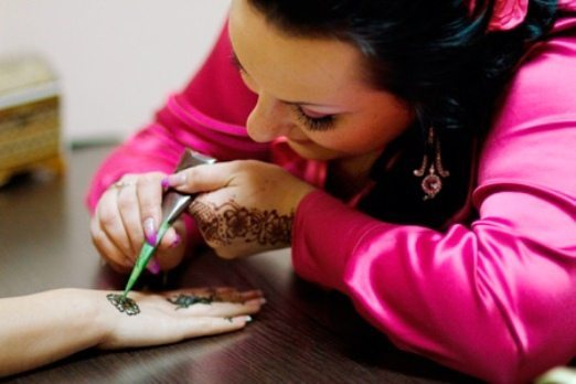 рисование на руке