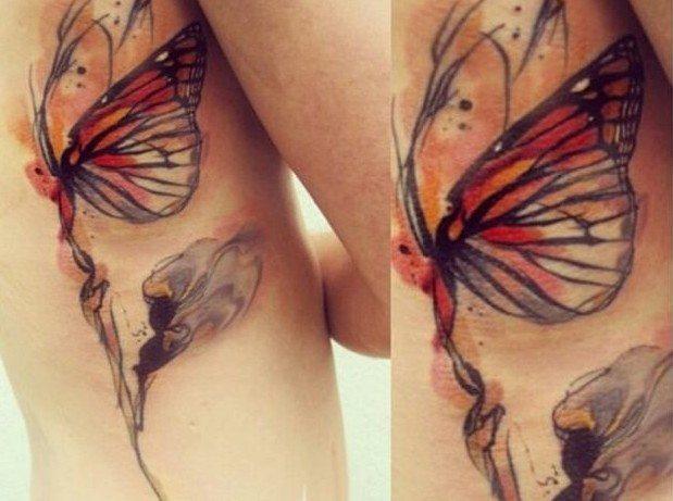 фото татуировка на лопатке