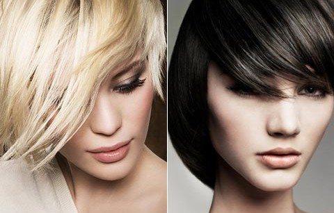 блондинка и брюнетка с рваной челочкой