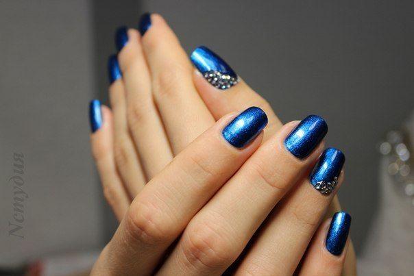 синий шеллак на новый год 2014