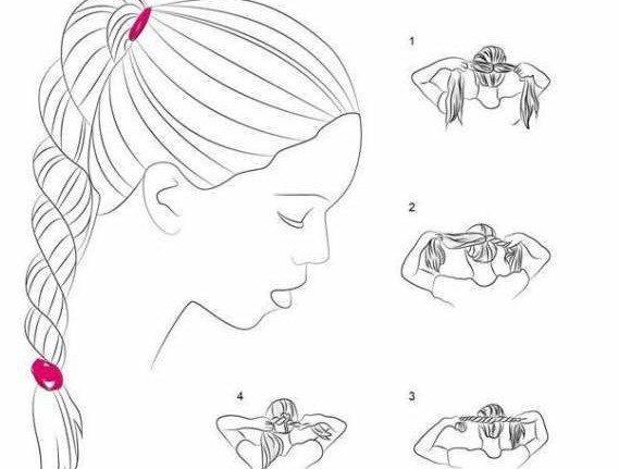 как сделать жгуты в прическе