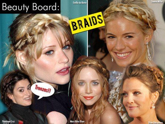 актрисы с греческими косами