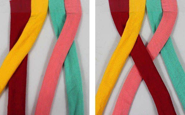 схема заплетания в шнурках