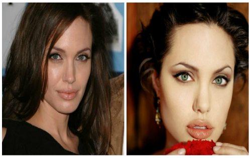 Джоли с нюд makeup