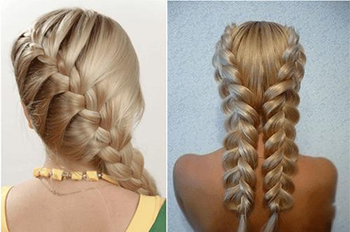 Косы-на среднюю длину волос