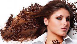 кофейные зерна на волосах