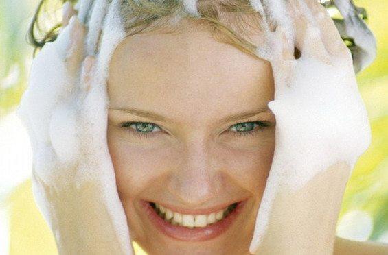 мытье шампунем