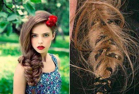 плетеные в косу аксессуары