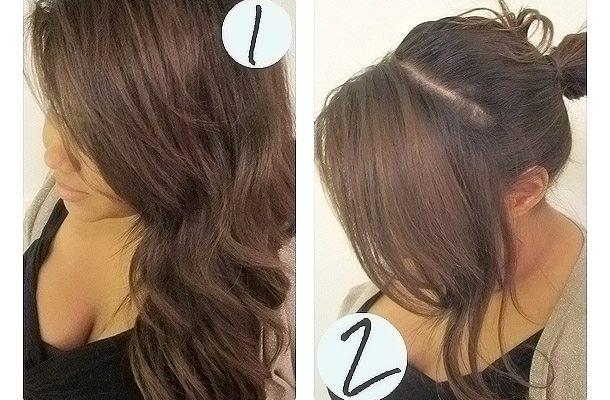 голландская коса на челке