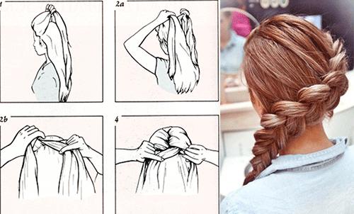 французская схема плетения