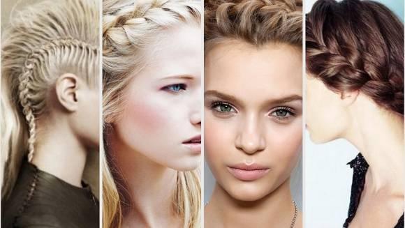 4 девушки с косами из 4 прядей