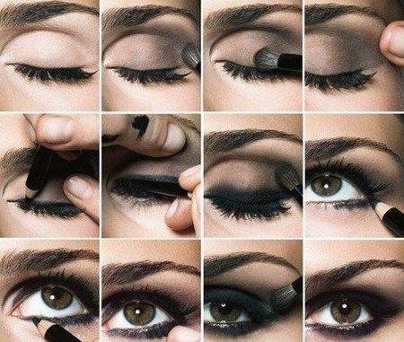 как сделать макияж в домашних условиях фото пошагово
