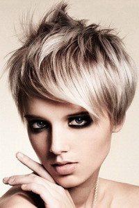 укладка на жемчужном блонде