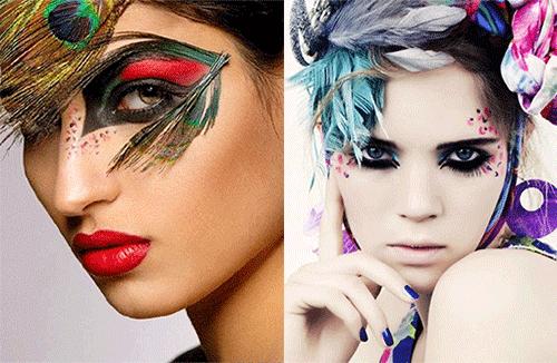 авангардный makeup