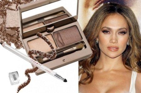 коричневый makeup