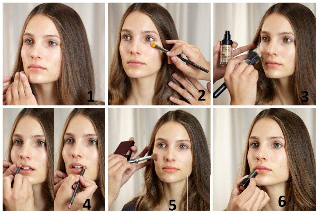 пошаговая техника для make- up nude