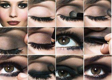 темный макияж smoky eyes