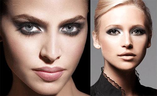 неброский make-up для сероглазых красавиц
