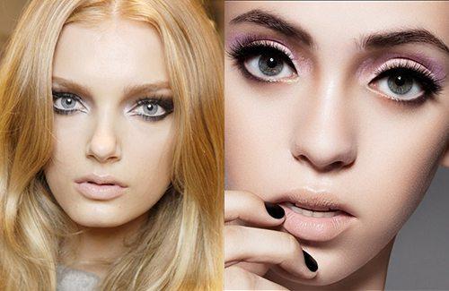 Как сделать макияж что глаза казались большими 378