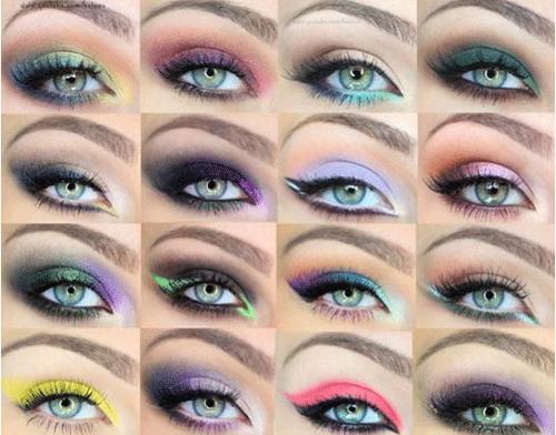 различные варианты makeup для сероглазых