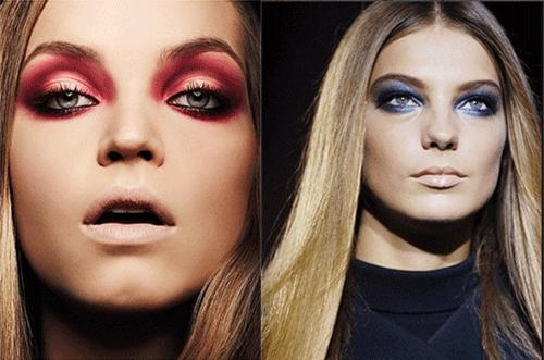 яркий makeup с подиума