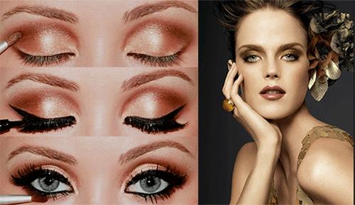 золотистый makeup