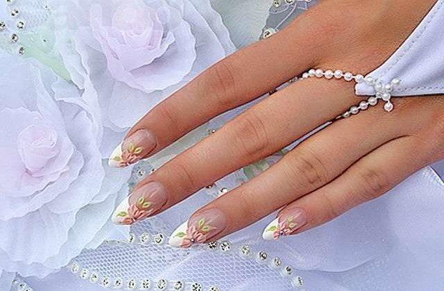 красивый свадебный маникюр