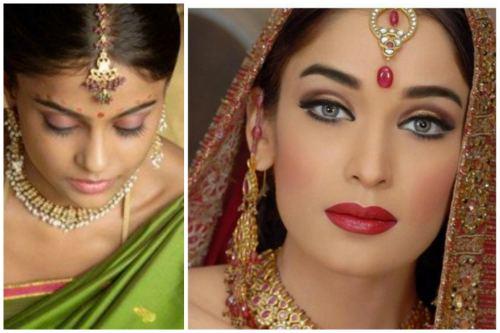 makeup в индийском стиле