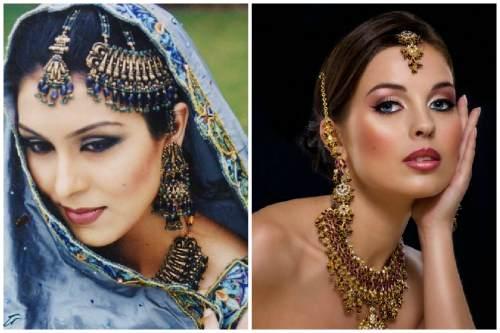 Арабский makeup в синей и золотистой гамме